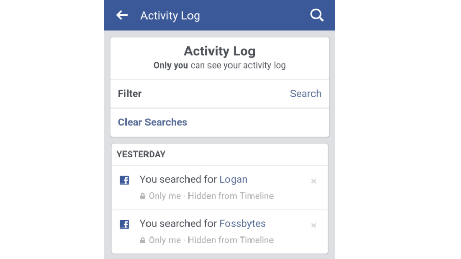 How to delete facebook search history all at once clear people delete facebook search history 4 ccuart Image collections