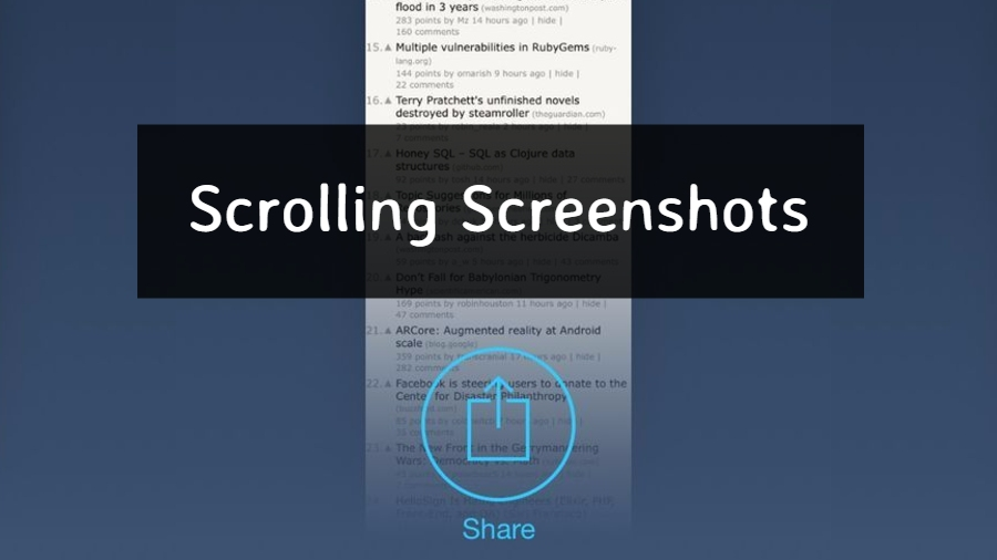 How To Take Scrolling Screenshot On iOS And Android? | Apps To Take