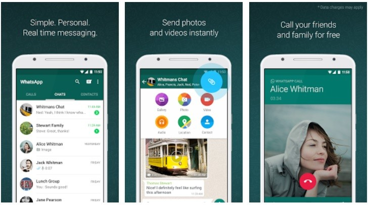 one-to-one encrypted messaging app WhatsApp