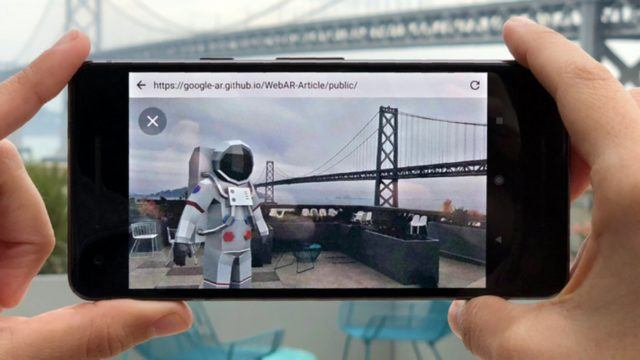 Google web AR prototype article