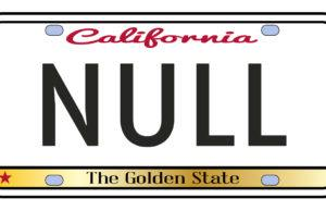 NULL license plate