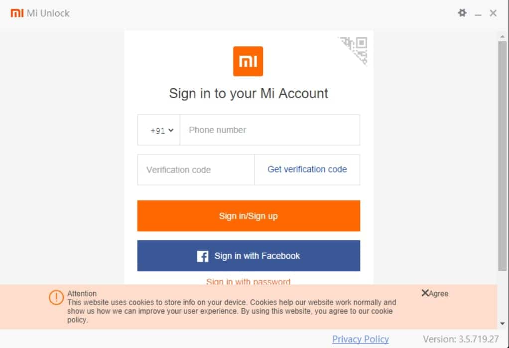 Mi Unlock Tool Bootloader Sign in